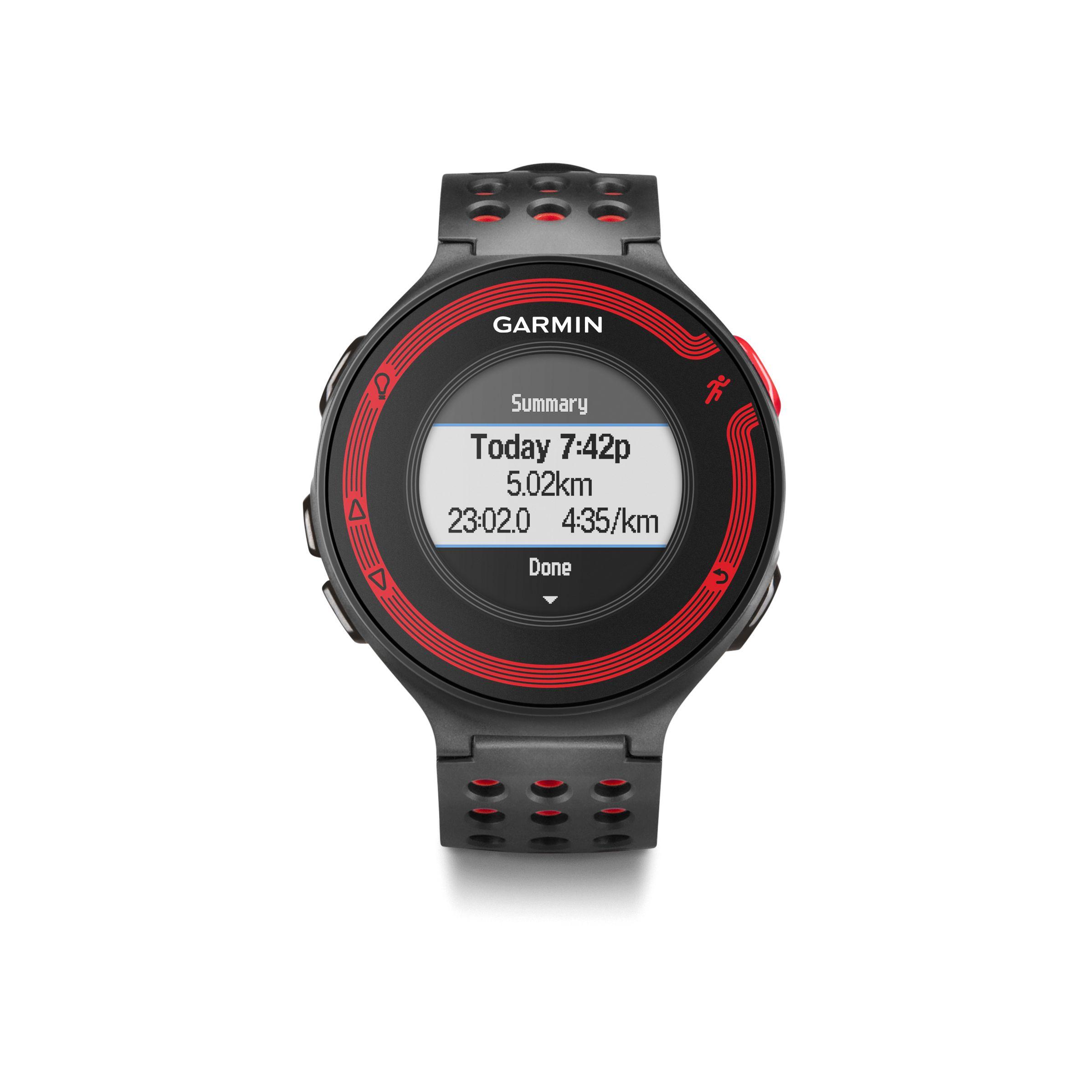 Garmin forerunner 220 gps watch heart rate monitor humber runner for Garmin watches