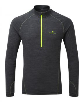 RonHill Stride Thermal L/S Zip-Tee